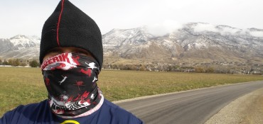 Run Beneath Snowy Utah Mountains