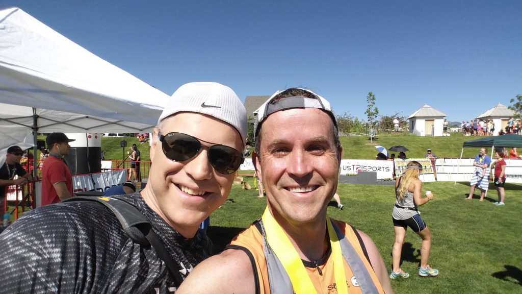 TJ and I after the race