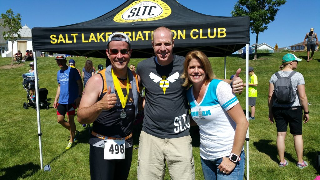 Bret and Lindsey at the finish line